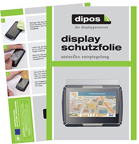 dipos I 3X Schutzfolie matt kompatibel mit NavGear TourMate N4 Folie Displayschutzfolie