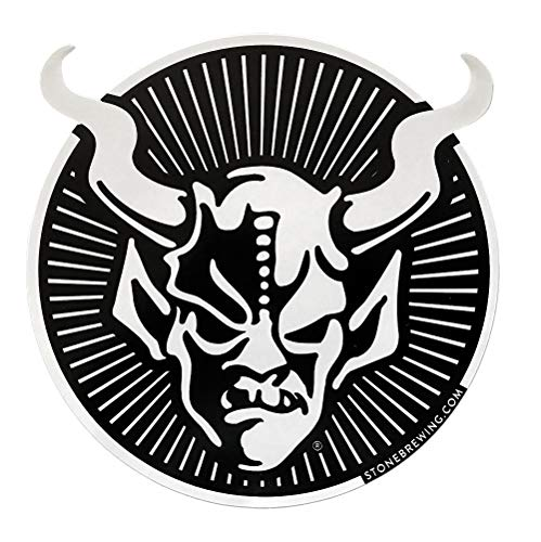 Stone Brewing Company XL Circle Gargoyle Logo Sticker