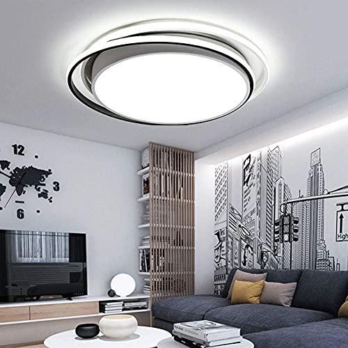 Lámpara de techo LED redonda, montaje empotrado en superficie, pantalla de acrílico, lámpara de techo, cuerpo de lámpara de hierro, sala de estar minimalista moderna, dormitorio, pasillo, lámpara de e