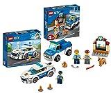 Legoo Lego City 60241 - Juego de mesa de perro policía y carro de rayas 60239 City (4 a 5 años)