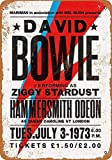 Wise Degree Metal Poster David Bowie in London Metall