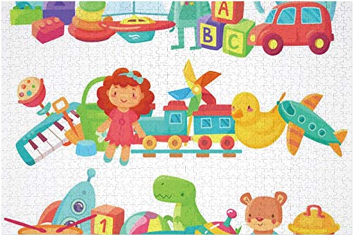 Kids age Toy Piles.Kids Toys Groups.Cartoon Baby Doll and Train,Children's Puzzle Boy and Girl Puzzle Puzzle for Adults Ball Cars 500PCS
