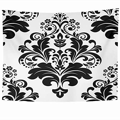 Tapices para colgar en la pared Cubrir Damasco Flores Abstracción Patrón de moda floral Diseño de azulejos Texturas abstractas reales Tapiz oscuro Manta de pared Decoración del hogar Sala de estar Dor