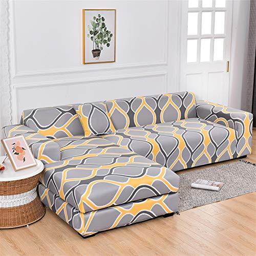 Dauerhafter und leicht zu reinigender Sofa-Cover Sofa-Cover, elastische Sofa-Cover-Baumwollcouch-Cover-Stuhl Sektional großes Sofa Es braucht Ordnung 2-Piece-Sofa-Abdeckung Wenn das Chaise-Longue-Sofa