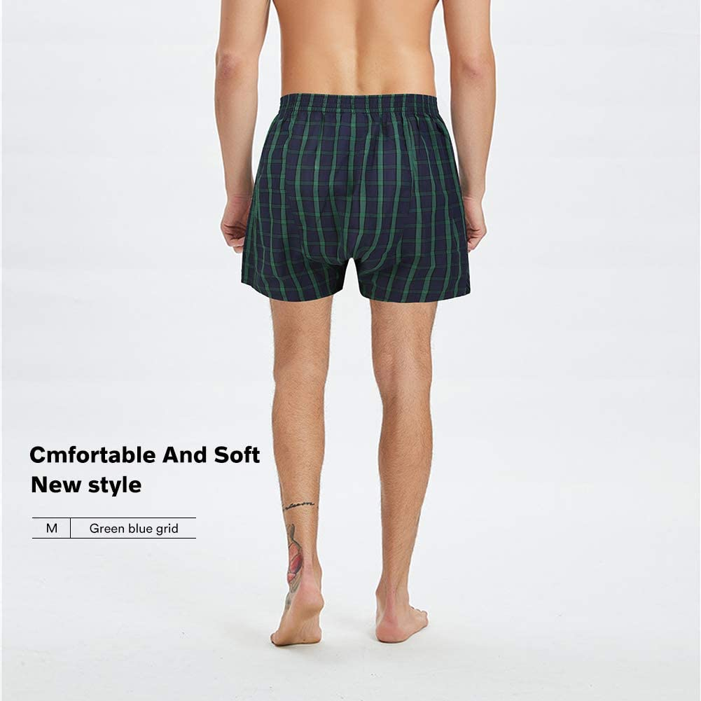 Natural Feelings Mens Boxer Underwear Cotton Classic Woven Boxer Shorts for Men Pack