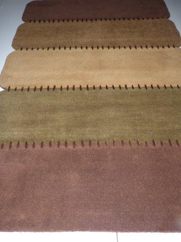 Webteppich Orientteppich Carpets 100% Wolle Handtuft Brücke Läufer Rost-Braun 170 x 240 cm Teppich