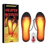 SEGMINISMART Semelle Chauffante USB,Semelle Chauffante, Semelle Thermique,Semelles intérieures pour Chaussures Chauffe Pieds d'hiver, Taille Peut être coupé et Lavable (35-40)