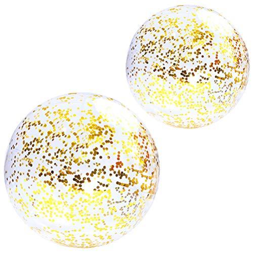 Lubudup Confeti hinchable transparente para fiestas de verano, con bomba, para playa, piscina, jardín