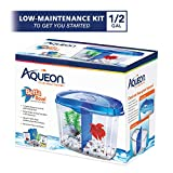 Aqueon Betta Fish Tank Starter Kit, Half Gallon, Blue