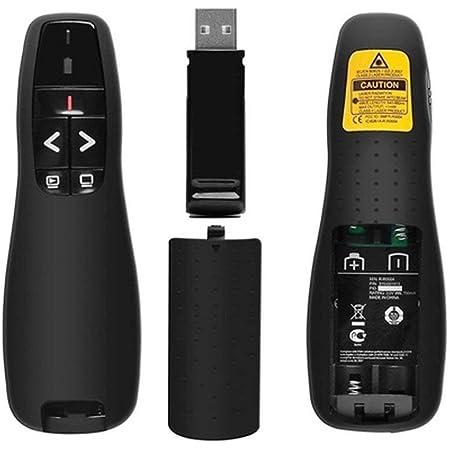 docooler Telecomando Multimediale Presentazione e modalit/à Presenter Remote con Luce Rossa Wireless PPT Clicker Ampia