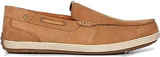 Woodland Men's Camel Genuine Leather Loafers (GC 2809118 Camel)