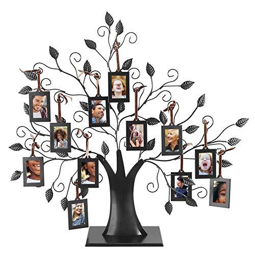 Familienbaum mit 6 bzw. 12 Foto-Anhängern, aufstellbare Dekoration Medium M