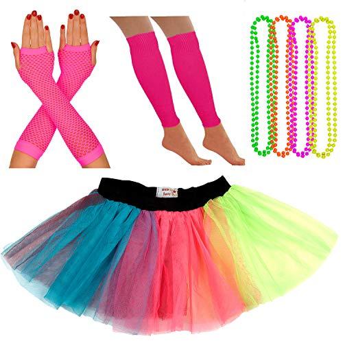 Neon Tutu, Fishnet Gloves, Legwa...