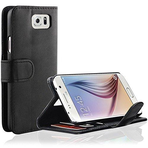 Samsung Galaxy Note 5 Hülle - EnGive Ledertasche Leder Tasche Brieftasche Hülle Schutzhülle Für Samsung Galaxy Note 5(schwarz)