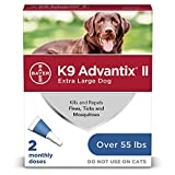 K9 Advantix II Flea and Tick Prevention for Extra-Large Dogs 2-Pack, Over 55 Pounds