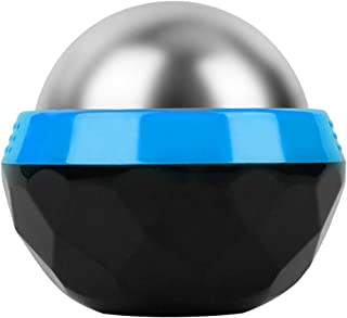GeToo Cold Massage Roller Ball - 2.4 Inches Cryosphere Ball Stays Cold for 6 Hours, Ice Therapy Deep Tissue Massage, Great for Recovery and Pain Relieve, Blue and Black