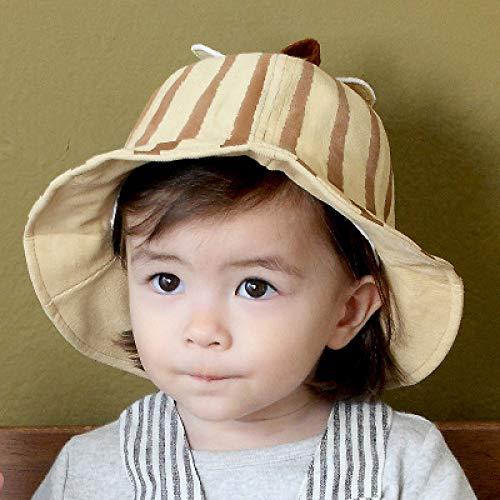 mlpnko Chapeau de Bonnet bébé garçons et Filles Chapeau de Soleil bébé Chapeau de pêcheur visière marée Enfants Chapeau de Citrouille Beige Code
