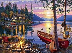 Buffalo Games - Darrell Bush - Canoe Lake - 1000 Piece Jigsaw Puzzle by Buffalo Games