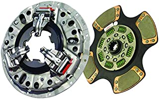 "IATCO 107621-1-IAT 350mm x 1-1/2"" Stamped Steel Clutch (Single-Plate, Push-Type, 4-Paddle/ 8-Spring, 2400 Plate Load / 500 Torque)"