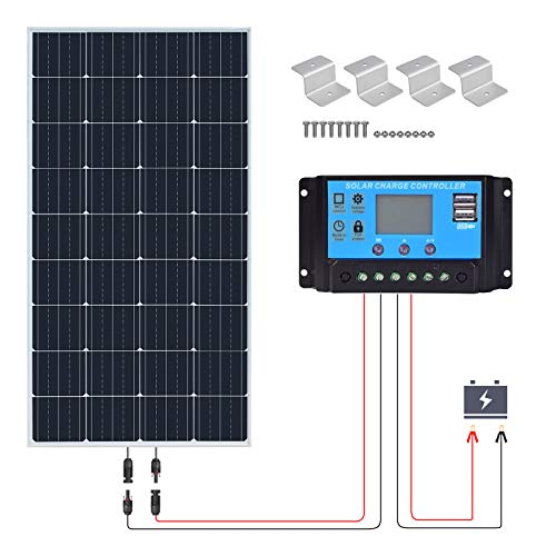 XINPUGUANG Kit vetro pannello solare 150w 12v Modulo fotovoltaico monocristallino 150 watt 18V 20A regolatore di carica solare per esterno, camper, yacht, casa