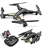 Syma X300 Foldable Drone with Camera for Adults 1080P FHD FPV Live Video, Optical Flow Positioning, Tap Fly, Altitude Hold, Headless Mode, 3D Flips, Quadcopter for Kids Beginners, 2 Batteries 40mins