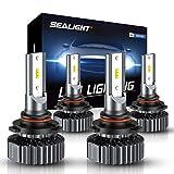 SEALIGHT 9005 9006 LED Headlight Bulb Kit, High Beam Low Beam LED Bulb