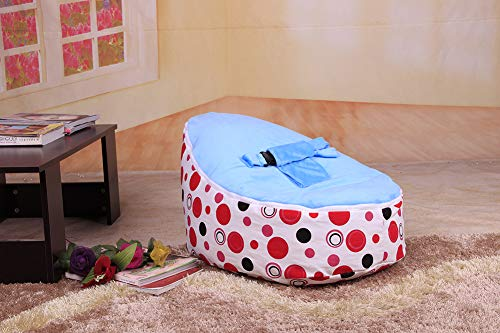 Fantastic Deal! AlokHnvj Baby Sofa Beanbag with Filling, Lounger Childrens Bean Bag Sofa Baby Chair ...