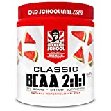 Old School Labs Classic BCAA 2:1:1 - Branched-Chain Amino Acids for Lean Muscle and Recovery with BioFit Probiotics - Natural Watermelon Flavor Makes for a Delicious Drink During Any Activity
