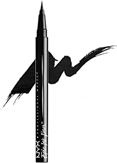 NYX Professional Makeup Eyeliner Epic Ink Liner, Applicatore a Pennellino, Formula Pigmentata, Waterproof, Nero, Confezion...
