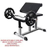 Valor Fitness Preacher Curl Bench - Preacher Curl Benches for Bicep Curl Support Meant for Curling with EZ Curl Bar (Sold Separately)