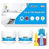 Tub, Tile and Shower Repair Kit Fiberglass Repair Kit,3.5 oz Porcelain Repair Kit,Bathtub Repair Kit White Toilet Ceramic Repair Kit for Cracked Bathtub Scratches - Shower Bases