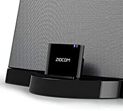 ZIOCOM [Upgrade] 30 Pin Bluetooth Adapter Audio Receiver for Bose iPod iPhone SoundDock and Other 30 Pin Dock Speakers, Upgrade Old SoundDock with 30 Pin Connector, Not for Any Cars or Motorcycles