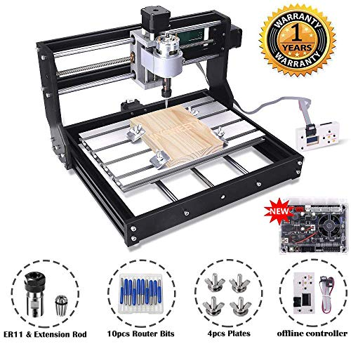MYSWEETY CNC Machine, DIY CNC Router Kits 3018 GRBL Control Wood Carving Milling Engraving Machine...