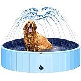Gonioa Portable Dogs Pool with Splash Sprinkler