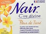 Nair - Cire Divine Fleur De Tiaré - Efficacité poils courts - Résultat professionnel longue durée - 400g