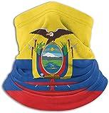 BOTAO Bandera de Ecuador Unisex Polar Calentador de Cuello Polaina mascarilla de Microfibra, Polaina de Cuello, Bufanda mágica para Polvo al Aire Libre