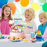 iZoeL Tortendeko Einhorn Geburtstag Kuchen Regenbogen Happy Birthday Girlande Luftballon Wolke Kuchen Topper für Kinder Mädchen Junge - 6