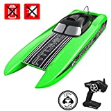 VOLANTEXRC Brushless Remote Control Boat RC Boat Atomic SR85 34inch 56mph High Speed RC Watercraft Auto Self-Righting, All Metal Hardware System, Strong ABS Unibody Hull in Lake, River (798-3 ARTR)
