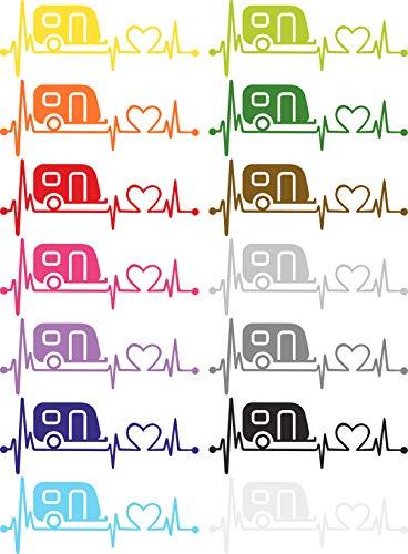 Herzlinien Aufkleber Wohnwagen klein
