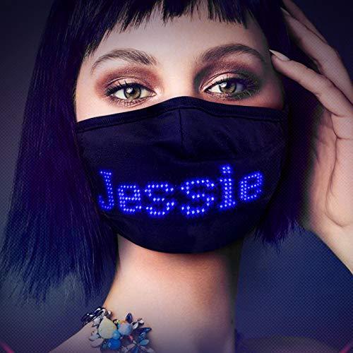 Eholder DIY Led Maske Erwachsene, Coole Led Masken für Halloween Led Party Fasching Karneval Disco, Led-Maske für Damen Herren Jugendliche, Wörter Sätze Bilder Zeigen (Schwarz)