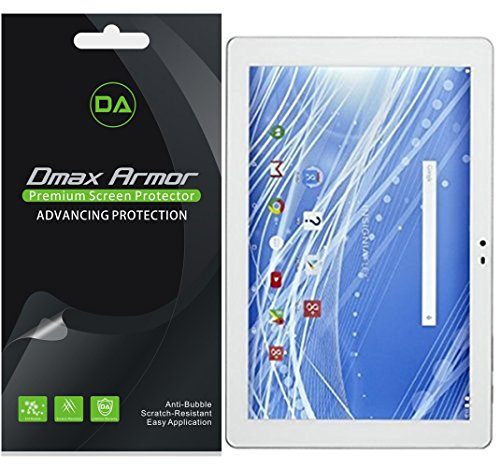 Dmax Armor [3-Pack] for Insignia Flex 10.1 inch (NS-P16AT10 / NS-P10A6100) Screen Protector, Anti-Bubble High Definition Clear Shield