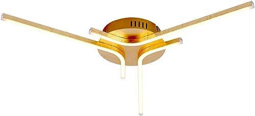 Plafonnier LED moderne LED 3x 7W 560lm 3.000K en or