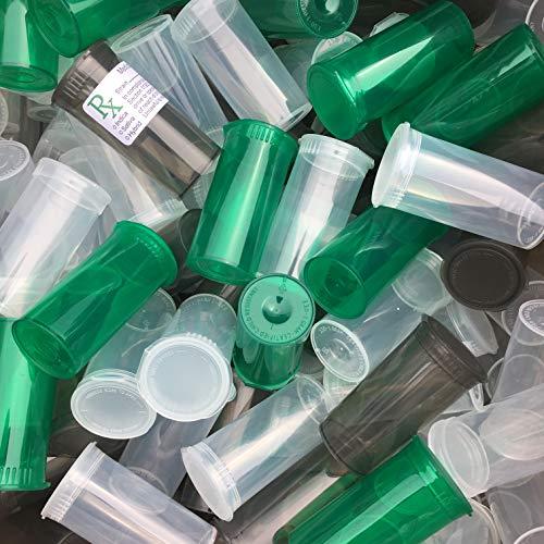 de 225 x 19 Dram // 80 ml POP TOP SQUEEZE Bottles Container Vials RX PP-TR-GR-225 Botellas de pl/ástico de grado m/édico TRANSLUCENT GREEN Resistente a los ni/ños aprobado por la FDA