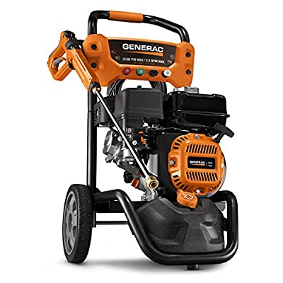 Generac OneWash 3,100 PSI 70191 Pressure Washer, Black, Orange