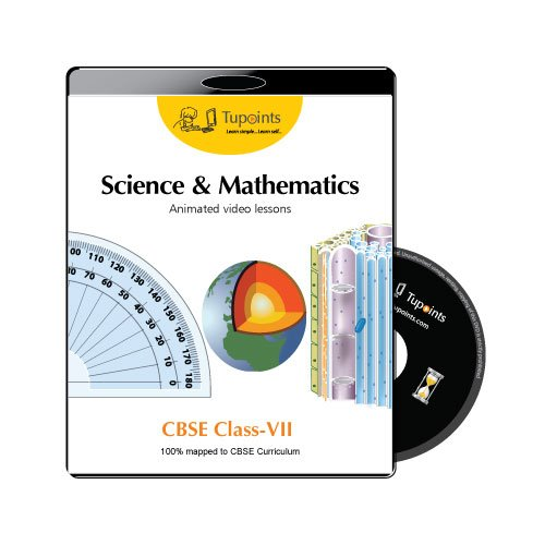 CBSE Class 7 Science and Mathematics Multimedia Animated video lessons DVD/CD