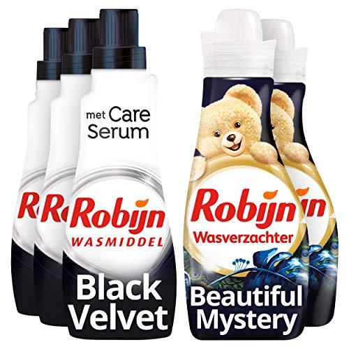 Robijn Perfecte Match Black Velvet Wasmiddel en Wasverzachter 3 x 21 en 2 x 30 wasbeurten