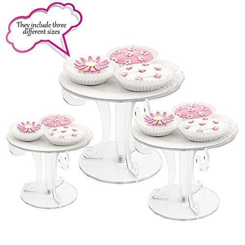 Clear Acrylic Cupcake Stand For Wedding (4 Inch,6 Inch,8 Inch)