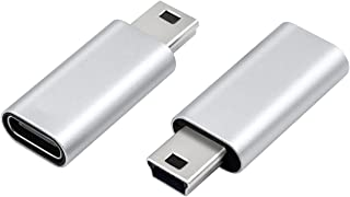 Duttek USB C to ミニ USB アダプター 2個パック USB C (メス) - Mini USB (オス)アダプター Type-C to mini変換アダプター