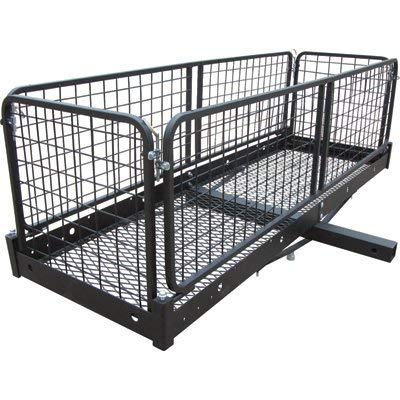 Ultra-Tow Steel Hitch Cargo Carrier with Removable Basket - 500-Lb. Capacity, Black, 60in. x 20in. x 20in.