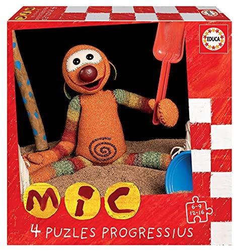 Educa 19104 Mic. Set de 4 Puzzles Infantiles Progresivos de 6, 9, 12 y 16 Piezas. +3 años